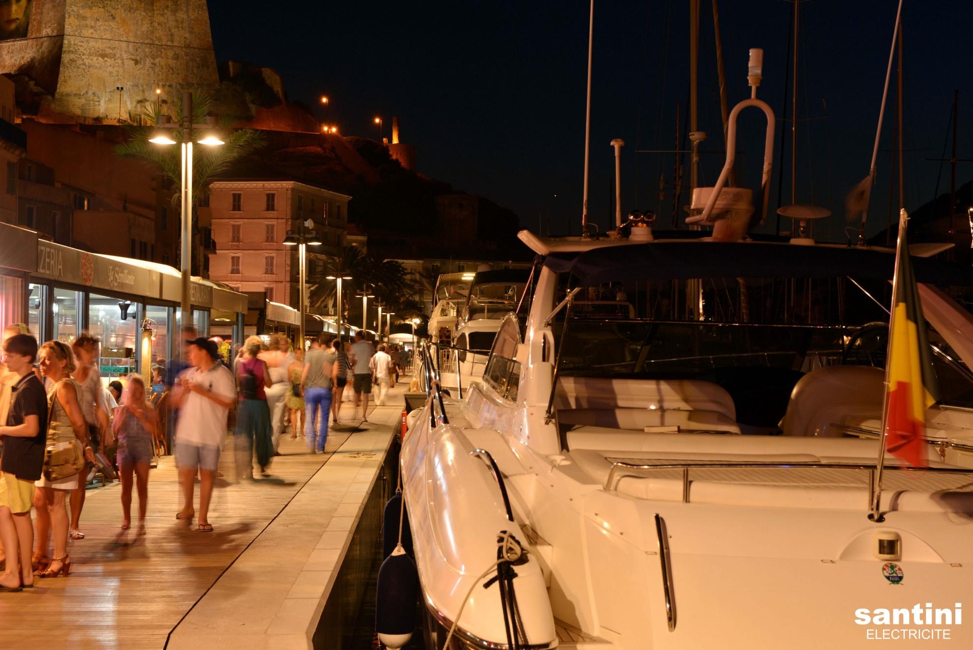 Eclairage Port de Plaisance - Bonifacio